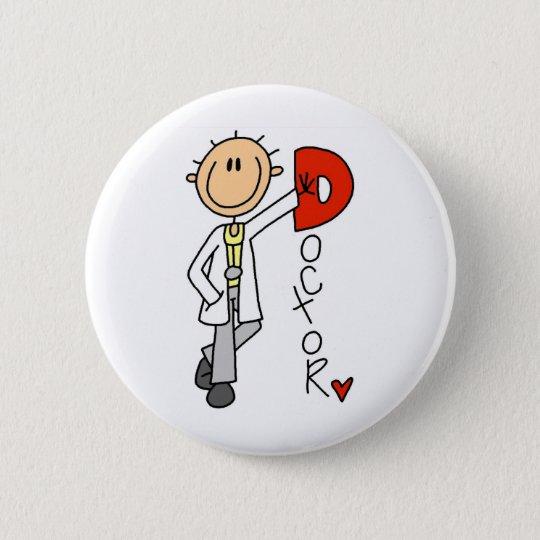 D ist für Doktor Runder Button 5,7 Cm
