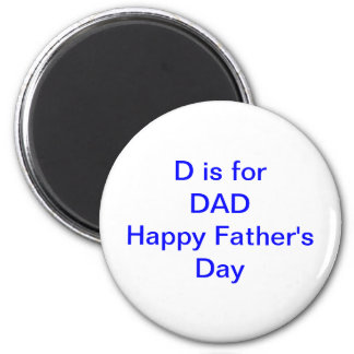 D ist für VATI der Vatertags-neuen Vater Runder Magnet 5,1 Cm