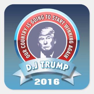 D.J. Trumpf 2016 Quadratischer Aufkleber