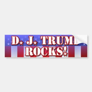 D.J. Trumpf-Felsen! Autoaufkleber