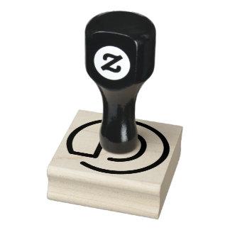 D-Monogramm-hölzerne GummiBriefmarke Gummistempel
