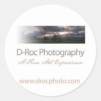 D-Roc-Foto-Aufkleber Runder Aufkleber
