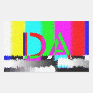DA färben Unterschiedstatic-Aufkleber Rechteckiger Aufkleber
