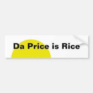 DA-Preis ist Reis Autoaufkleber