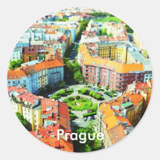 Dächer runden Aufklebers Prags Runder Aufkleber
