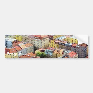 Dächer von Prag-Autoaufkleber Autoaufkleber