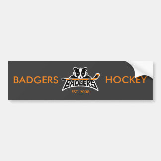 Dachs-Hockey-Logo Autoaufkleber