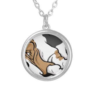 Dachshund-Jagdhund-Cartoonhund Versilberte Kette