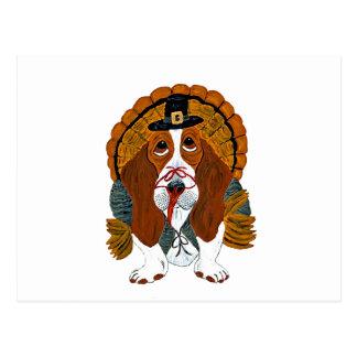 Dachshund-Jagdhund-Erntedank die Türkei Postkarte