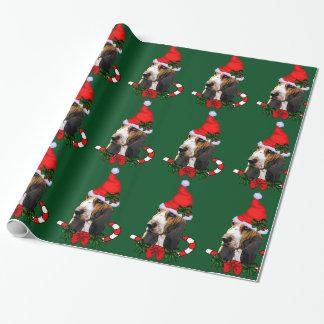 Dachshund-Jagdhund-Weihnachtsmannmütze-Weihnachten Geschenkpapier