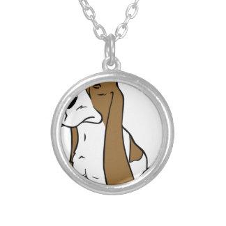 Dachshundjagdhund-Cartoon Versilberte Kette