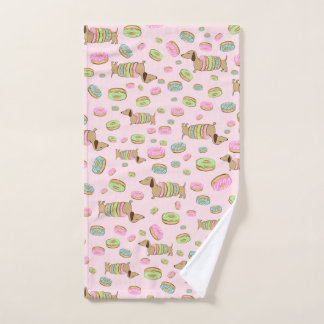 Dachshunds + Donuts Dish Towel + Doxie Hand Towel Handtuch