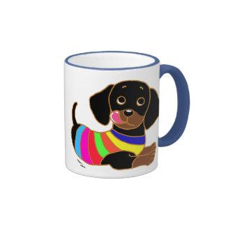 Dackel-Cartoon 2 Kaffeetassen