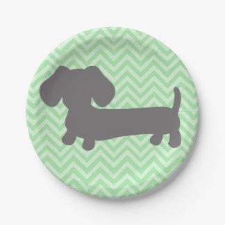 Dackel-Dackel-HundeParty Pappteller 17,8 Cm