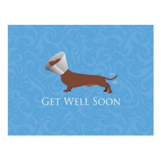 Dackel - erhalten Sie gut bald Postkarte