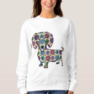 Dackel - farbiges Sweatshirt