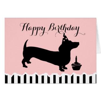 Dackel-Geburtstag Karte