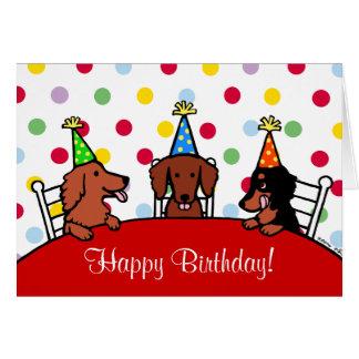 Dackel-Geburtstags-Cartoon Karte