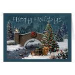 Dackel-Gruppen-Weihnachtskarte Evening4 Karten