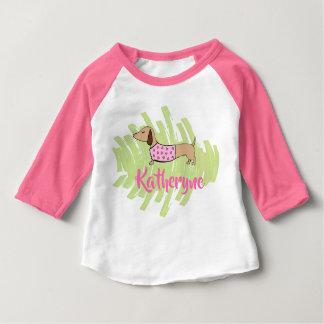 Dackel-Herz-Baby-Shirt für Frühling Baby T-shirt
