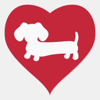 Dackel-Herz-Liebe-Umschlag Aufkleber-Aufkleber Herz-Aufkleber