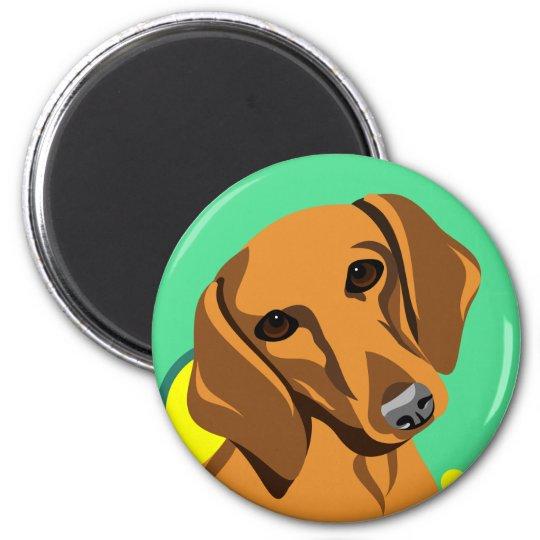 Dackel-Hundemagneten Runder Magnet 5,1 Cm