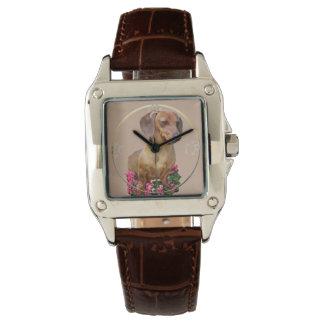 Dackel-Kunst-Geschenke Armbanduhr