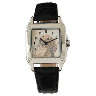 Dackel-(langhaarige) Malerei - ursprüngliche Armbanduhr