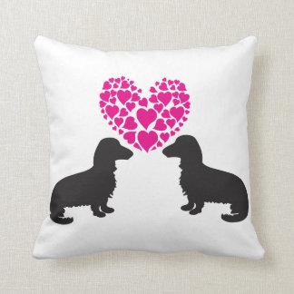 Dackel-Liebe-Kissen Kissen