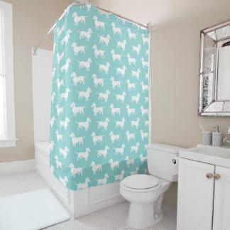 Dackel-Muster-Aqua oder irgendeine Farbe, die Sie Duschvorhang