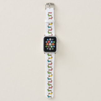 Dackel-Muster-Spaß-bunter Hund Themed Apple Watch Armband