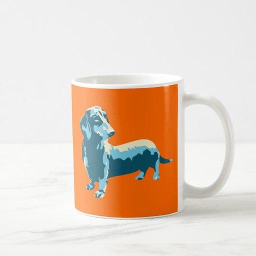Tassen Hund : Dackel pop kunst hund tasse zazzle