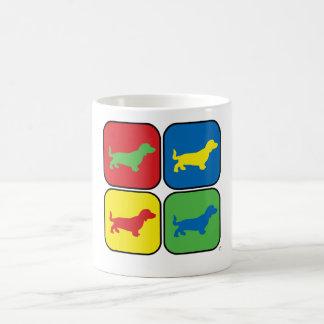 Dackel-Pop-Kunst Tasse