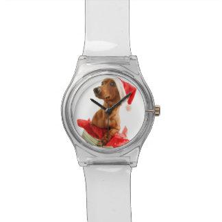 Dackel Sankt - Sankt-Hund - verfolgen Geschenke Uhr