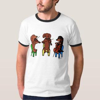 Dackel-Schnur-Trio-Musiker-T-Shirt T-Shirt