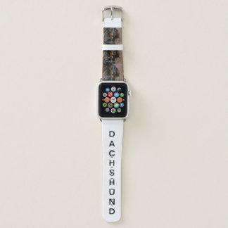 Dackel-schwarzer und tan Liebe w pic Apple Watch Armband