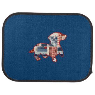 Dackel-Steppdecken-Auto-Matten (Rückseite) (Set Autofußmatte