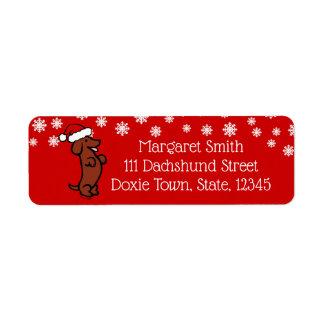 Dackel-WeihnachtsWeihnachtsmannmütze-Aufkleber