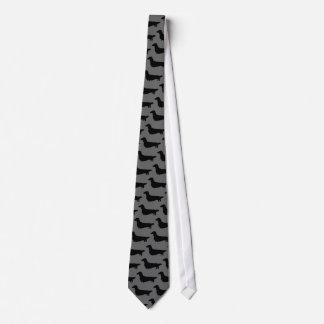 Dackeln (langes Haar) Personalisierte Krawatte