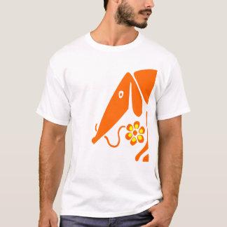 Dackelt-shirt mit Blume T-Shirt