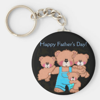 Daddybear, der glückliche Vatertag! Schlüsselanhänger