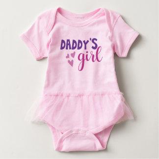 Daddys Mädchen-Ballettröckchen-Ausstattung Baby Strampler