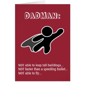 Dadman der Vatertags-Karte Mitteilungskarte