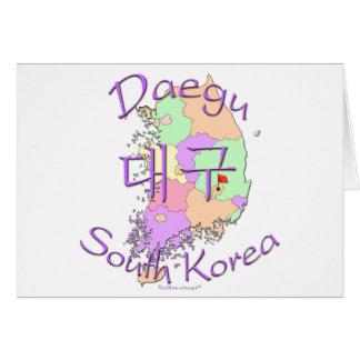 Daegu Südkorea Karte