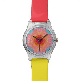 Dahlie-Blumen-Fraktal Armbanduhr