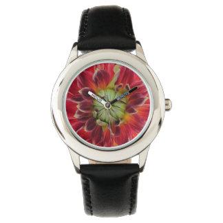 Dahlie-Blumen-Uhr Armbanduhr