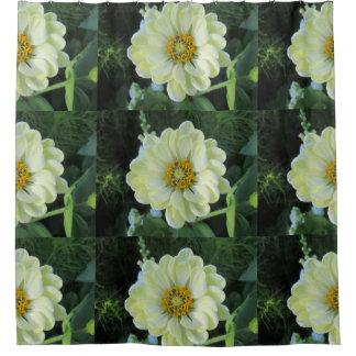 Dahlie-hellgelbe Blume Duschvorhang
