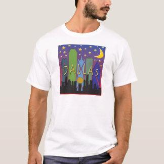 Dallas-Skyline-Nachtleben T-Shirt