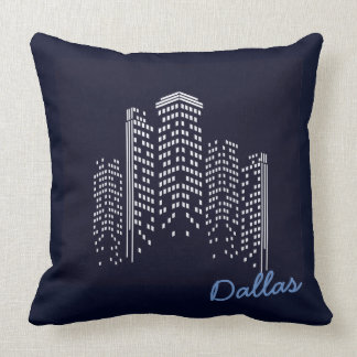 Dallas-Stadtbild Polyester-Kissen Kissen