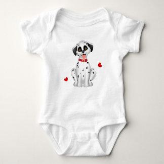 Dalmatinische Herzen Baby Strampler